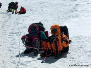 Sherpas on Lhotse Face